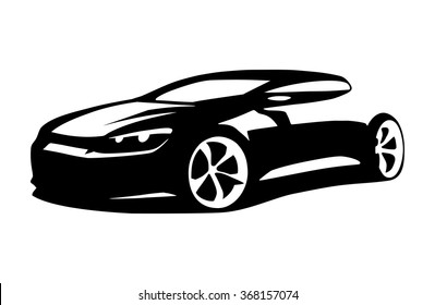 Car silhouette vector