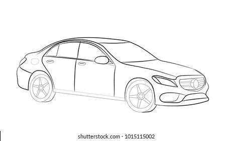 the car sketch