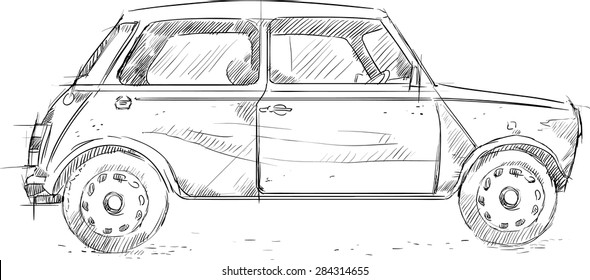 Car Sketch Images, Stock Photos & Vectors | Shutterstock