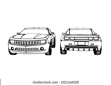 Muscle Car Vector Poster Stock Vector Royalty Free 1007358886
