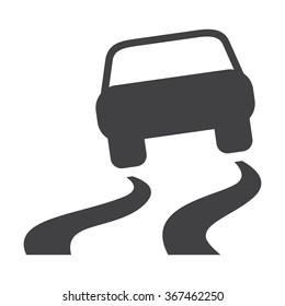Car Skid Icon.