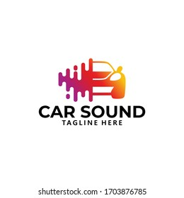 car sound system logo icon vector isolated