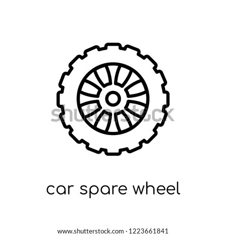 Car Spare Wheel Icon Trendy Modern Stock Vector Royalty Free