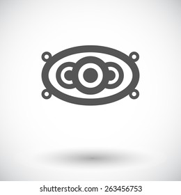 Car speakers. Single flat icon on white background. Vector illustration.