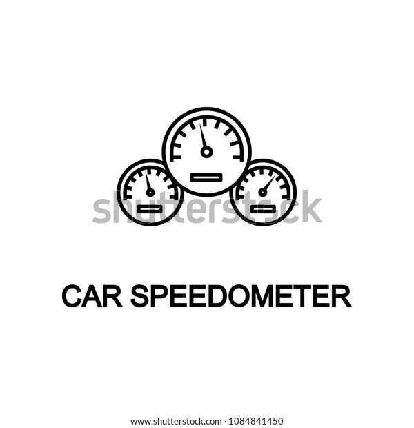 car speedometer icon. Element of car repair for mobile concept and web apps. Detailed  icon can be used for web and mobile. Premium icon on white background