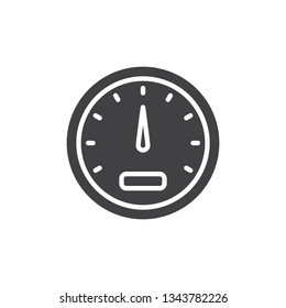 Car speedometer vector icon. filled flat sign for mobile concept and web design. Gauge speedometer glyph icon. Symbol, logo illustration. Pixel perfect vector graphics
