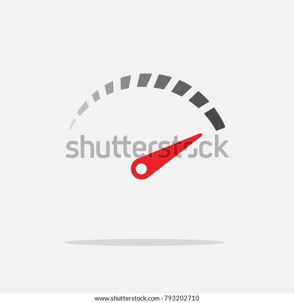 Car Speedometer Vector Icon Speed Driving Stock Vector