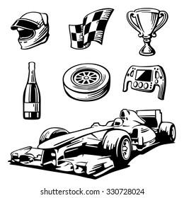 Car Sport Set Symbols
