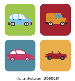 car squares design over white background vector illustration