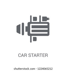 car starter icon. Trendy car starter logo concept on white background from car parts collection. Suitable for use on web apps, mobile apps and print media.