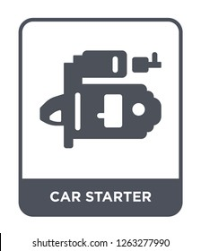 car starter icon vector on white background, car starter trendy filled icons from Car parts collection, car starter simple element illustration