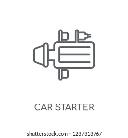 car starter linear icon. Modern outline car starter logo concept on white background from car parts collection. Suitable for use on web apps, mobile apps and print media.