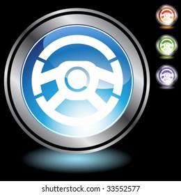car steering wheel chrome crystal