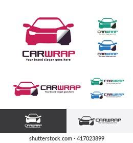 Car Sticker Wrap Logo Template