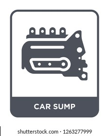 car sump icon vector on white background, car sump trendy filled icons from Car parts collection, car sump simple element illustration