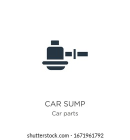 Car sump icon vector. Trendy flat car sump icon from car parts collection isolated on white background. Vector illustration can be used for web and mobile graphic design, logo, eps10