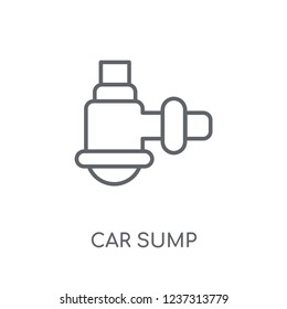 car sump linear icon. Modern outline car sump logo concept on white background from car parts collection. Suitable for use on web apps, mobile apps and print media.
