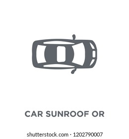 car sunroof or sunshine roof icon. car sunroof or sunshine roof design concept from Car parts collection. Simple element vector illustration on white background.
