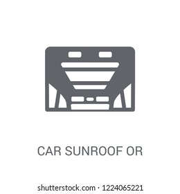 car sunroof or sunshine roof icon. Trendy car sunroof or sunshine roof logo concept on white background from car parts collection. Suitable for use on web apps, mobile apps and print media.