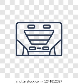 car sunroof or sunshine roof icon. Trendy linear car sunroof or sunshine roof logo concept on transparent background from car parts collection