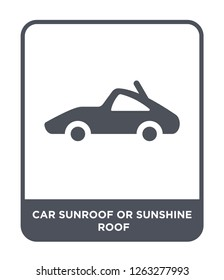 car sunroof or sunshine roof icon vector on white background, car sunroof or sunshine roof trendy filled icons from Car parts collection, car sunroof or sunshine roof simple element illustration