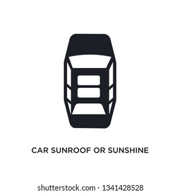car sunroof or sunshine roof isolated icon. simple element illustration from car parts concept icons. car sunroof or sunshine roof editable logo sign symbol design on white background. can be use