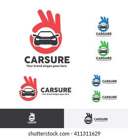 Car Sure Logo with OK Fingers Symbol.