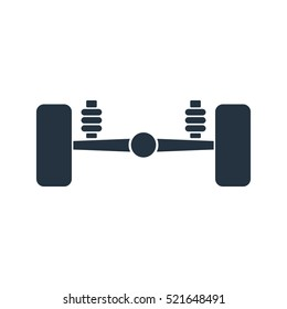 car suspension isolated icon on white background, auto service, repair, car detail