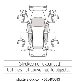 car suv  form drawing outline strokes not expanded