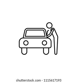 car theft line icon. Element of insurance sign for mobile concept and web apps. Thin line car theft icon can be used for web and mobile. Premium icon on white background