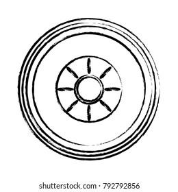 car tire icon image