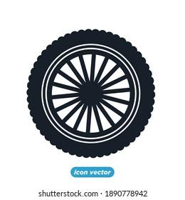 car tire icon template color editable. car tire symbol vector illustration for graphic and web design.