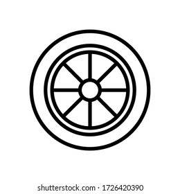 car tires  icon design, flat style trendy collection