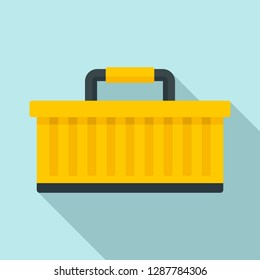 Car tool box icon. Flat illustration of car tool box vector icon for web design