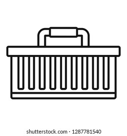 Car tool box icon. Outline car tool box vector icon for web design isolated on white background