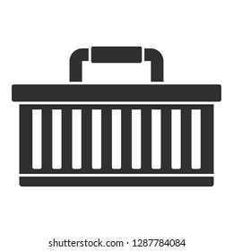 Car tool box icon. Simple illustration of car tool box vector icon for web design isolated on white background