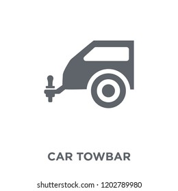 car towbar icon. car towbar design concept from Car parts collection. Simple element vector illustration on white background.