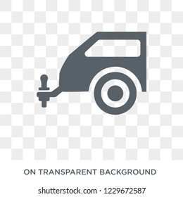 car towbar icon. car towbar design concept from Car parts collection. Simple element vector illustration on transparent background.