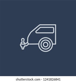 car towbar icon. car towbar linear design concept from Car parts collection. Simple element vector illustration on dark blue background.