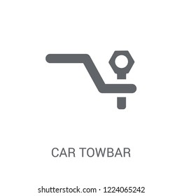 car towbar icon. Trendy car towbar logo concept on white background from car parts collection. Suitable for use on web apps, mobile apps and print media.