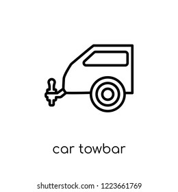 car towbar icon. Trendy modern flat linear vector car towbar icon on white background from thin line Car parts collection, outline vector illustration