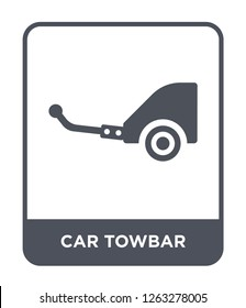 car towbar icon vector on white background, car towbar trendy filled icons from Car parts collection, car towbar simple element illustration