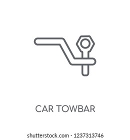 car towbar linear icon. Modern outline car towbar logo concept on white background from car parts collection. Suitable for use on web apps, mobile apps and print media.