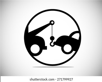 Car Towing Truck icon. Vector Illustration