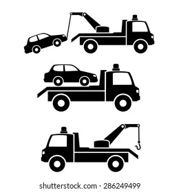 Car towing truck icon.vector
