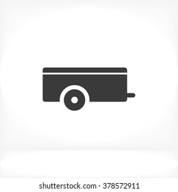 Car trailer Icon