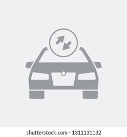 Car transfer service icon