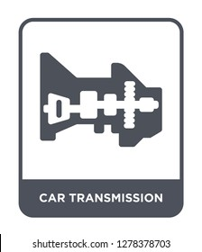 car transmission icon vector on white background, car transmission trendy filled icons from Car parts collection, car transmission vector illustration