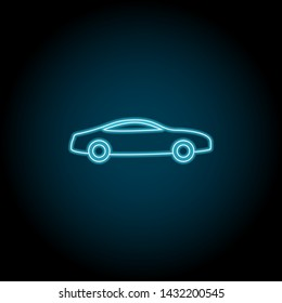 car, transport neon icon. Simple thin line, outline vector of universal icons for UI and UX, website or mobile application