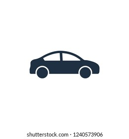 car transportation icon vector logo template